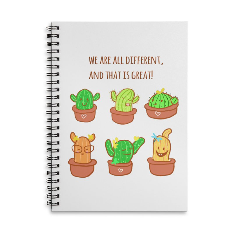 Happy cactus Accessories Lined Spiral Notebook by sawyercloud's Artist Shop