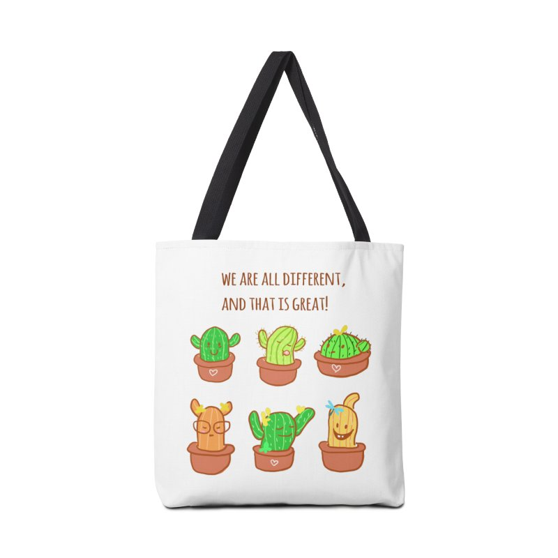 Happy cactus Accessories Tote Bag Bag by sawyercloud's Artist Shop