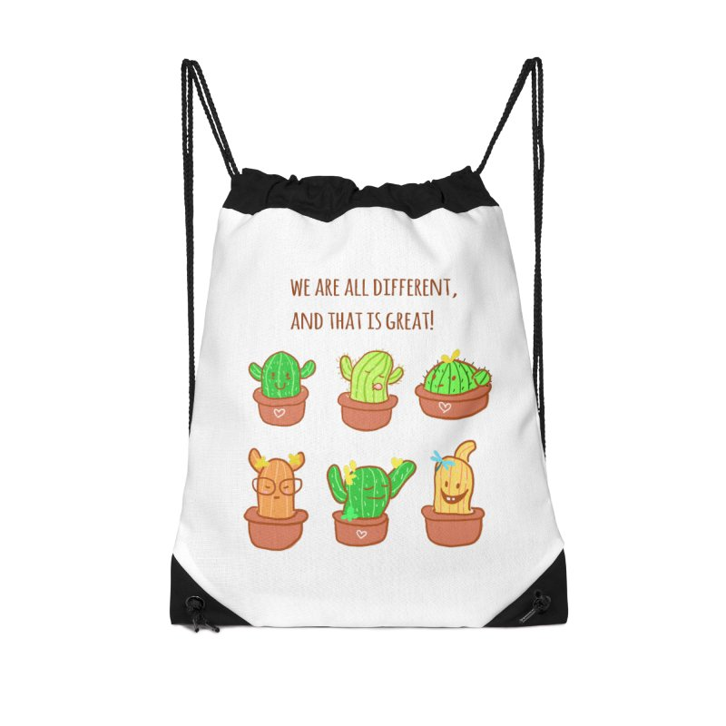 Happy cactus Accessories Bag by sawyercloud's Artist Shop