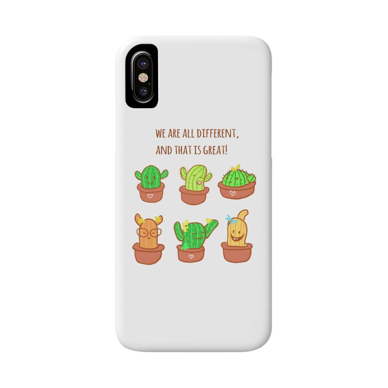 Happy cactus Accessories Phone Case by sawyercloud's Artist Shop