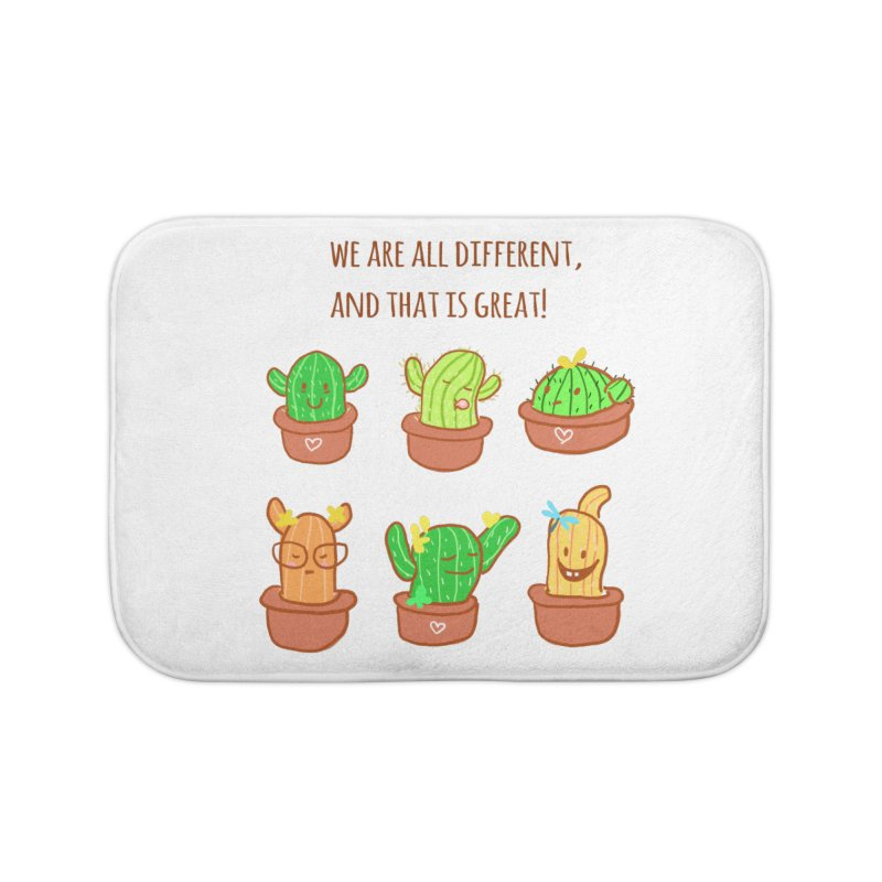 Happy cactus Home Bath Mat by sawyercloud's Artist Shop
