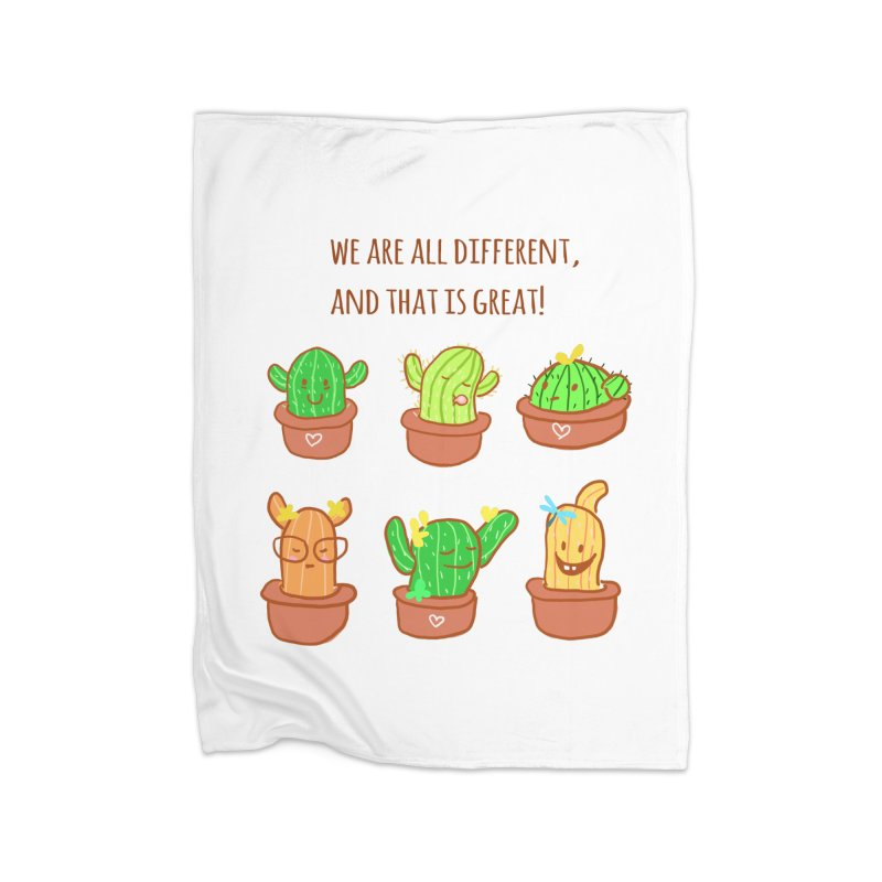 Happy cactus Home Blanket by sawyercloud's Artist Shop