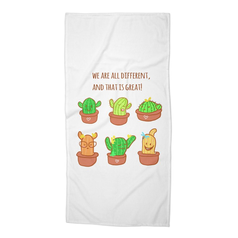 Happy cactus Accessories Beach Towel by sawyercloud's Artist Shop