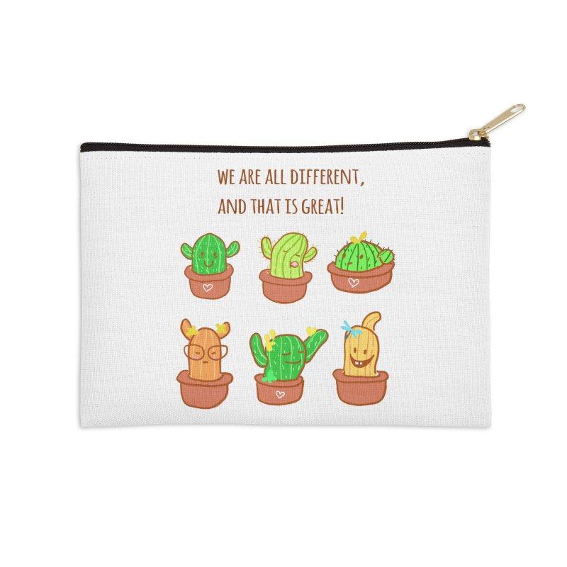Happy cactus Accessories Zip Pouch by sawyercloud's Artist Shop