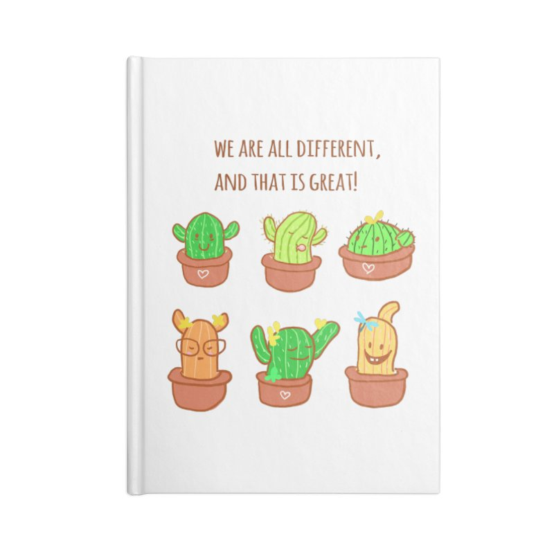 Happy cactus Accessories Notebook by sawyercloud's Artist Shop