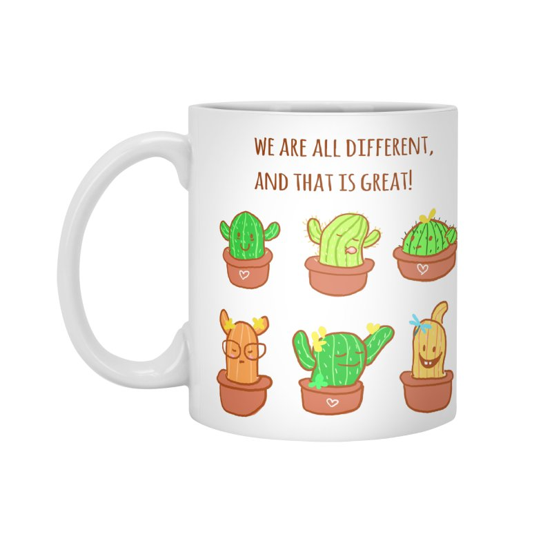 Happy cactus Accessories Standard Mug by sawyercloud's Artist Shop