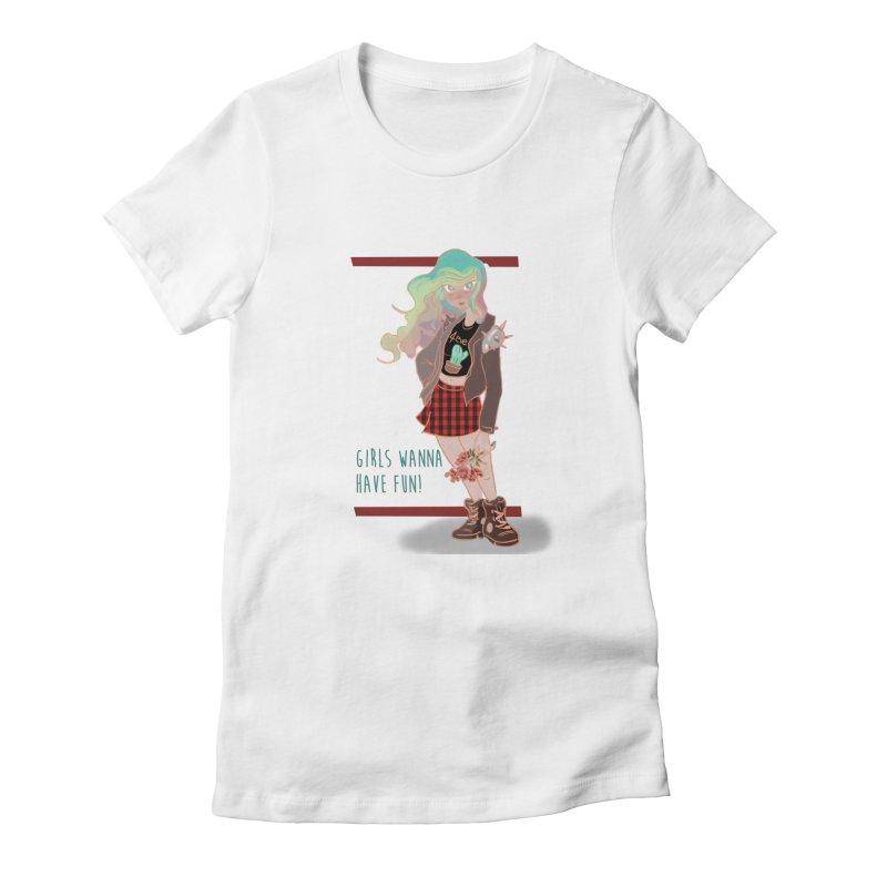 Punk Girl Women's T-Shirt by sawyercloud's Artist Shop