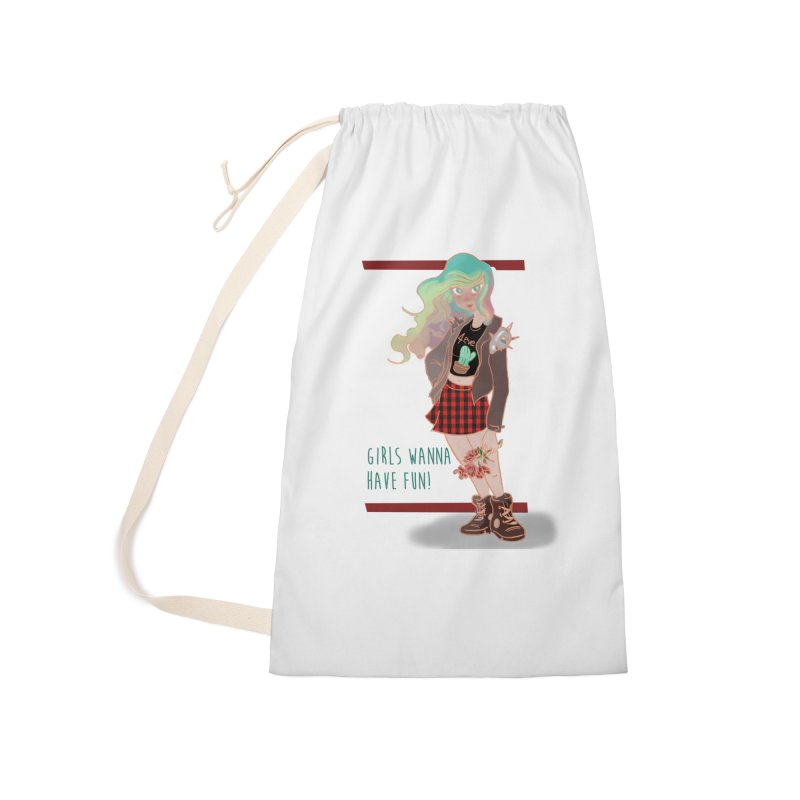 Punk Girl Accessories Bag by sawyercloud's Artist Shop