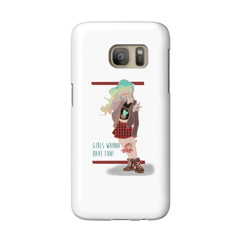 Punk Girl Accessories Phone Case by sawyercloud's Artist Shop
