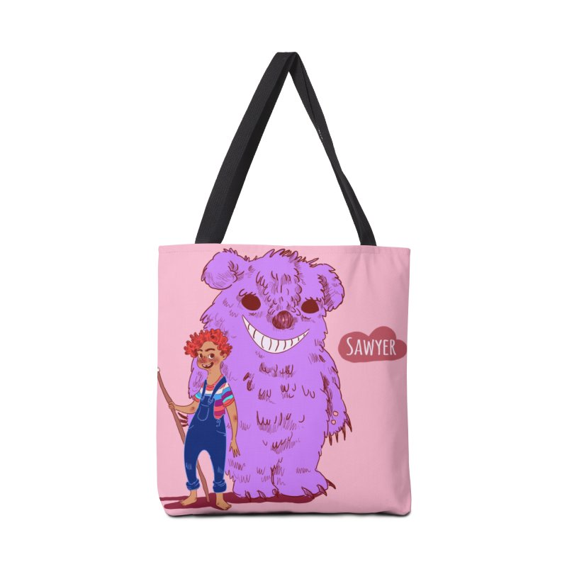 Monster and friend Accessories Tote Bag Bag by sawyercloud's Artist Shop