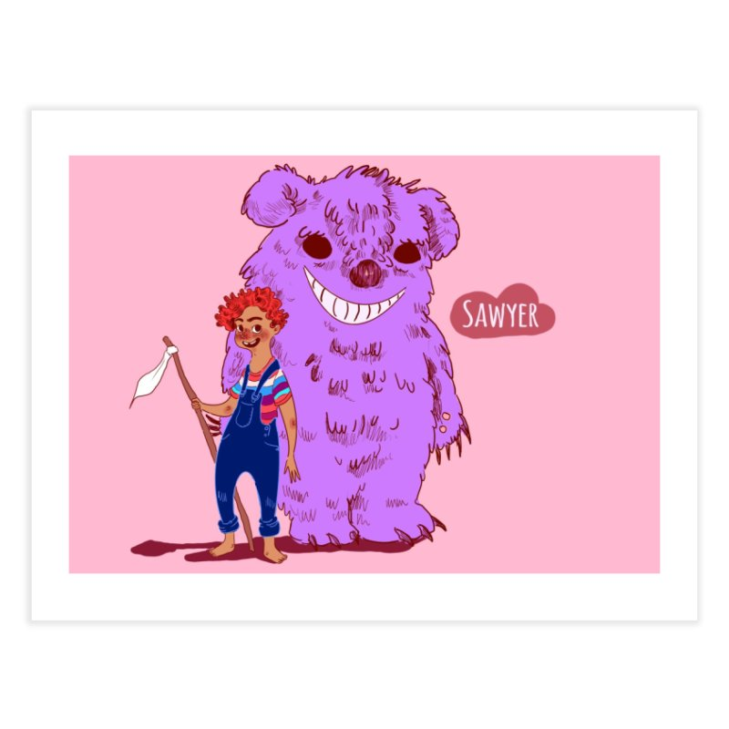 Monster and friend Home Fine Art Print by sawyercloud's Artist Shop