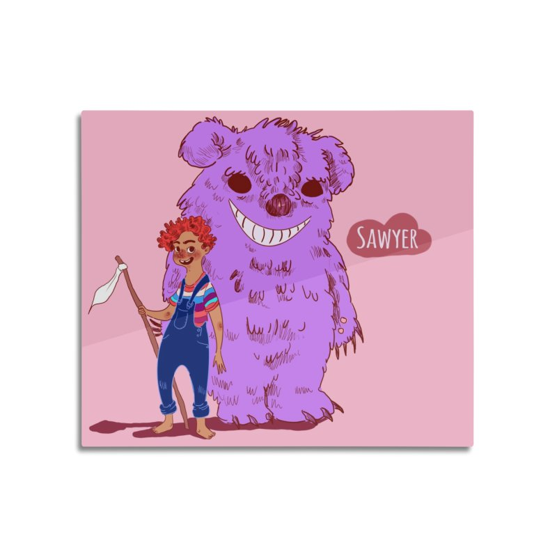 Monster and friend Home Mounted Acrylic Print by sawyercloud's Artist Shop
