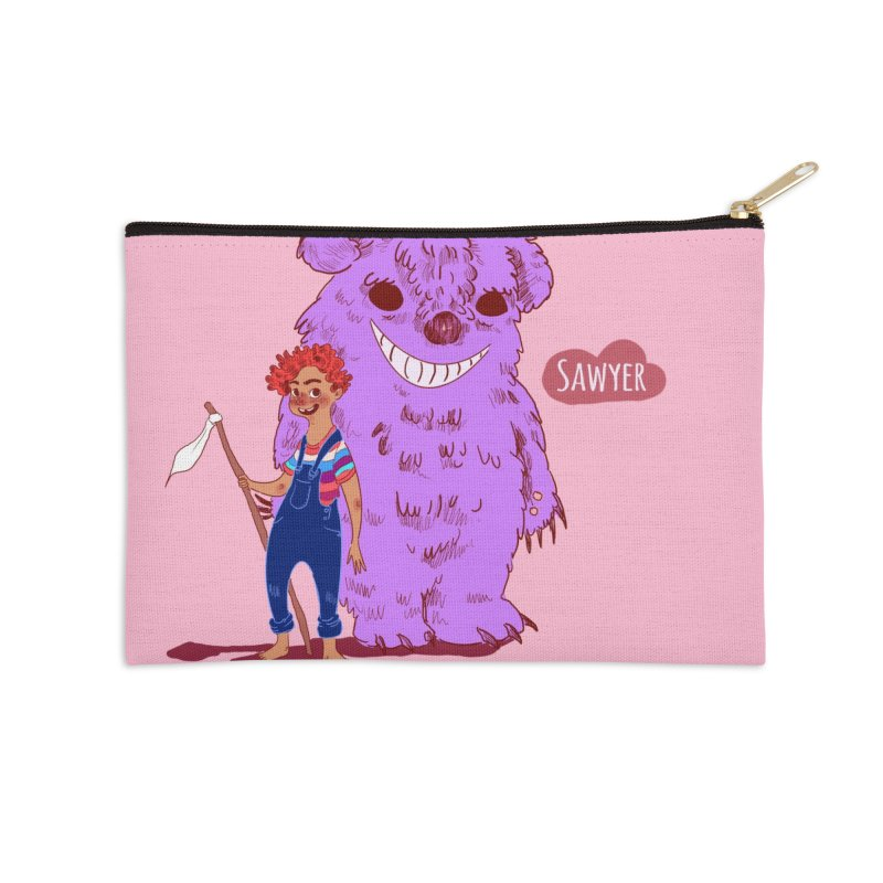 Monster and friend Accessories Zip Pouch by sawyercloud's Artist Shop