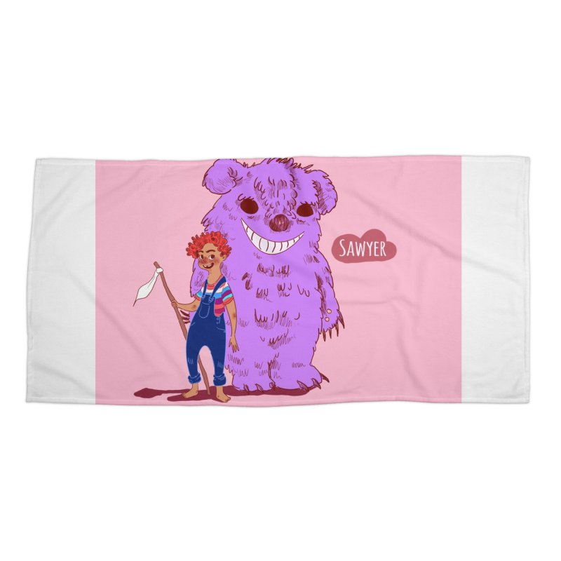 Monster and friend Accessories Beach Towel by sawyercloud's Artist Shop
