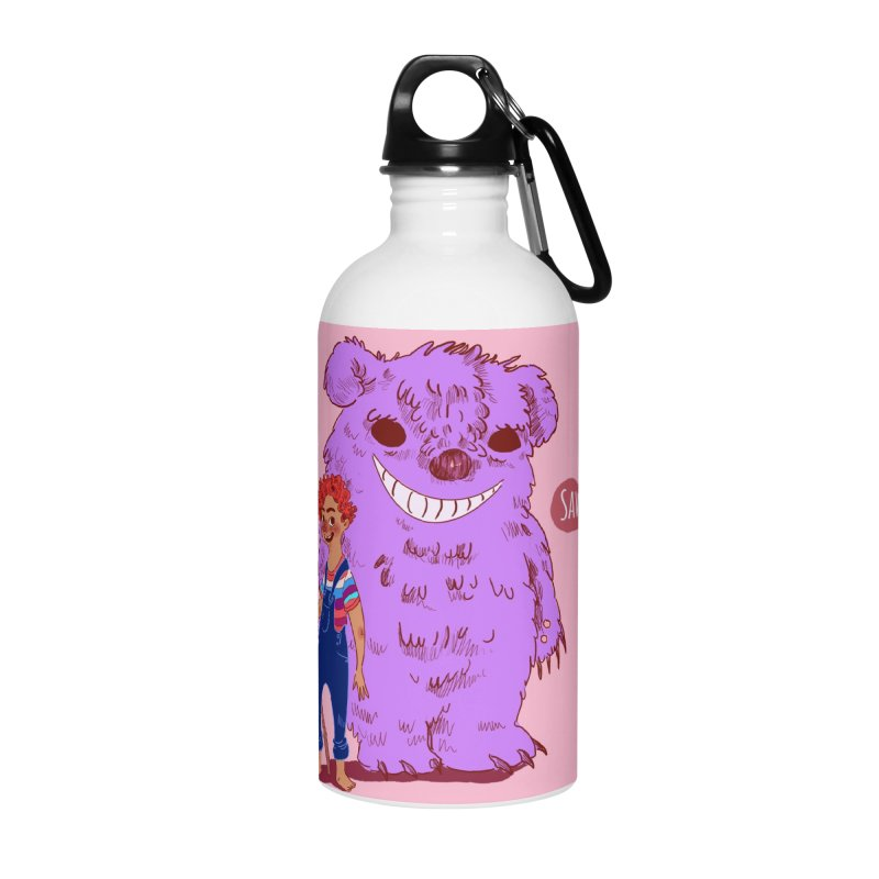 Monster and friend Accessories Water Bottle by sawyercloud's Artist Shop