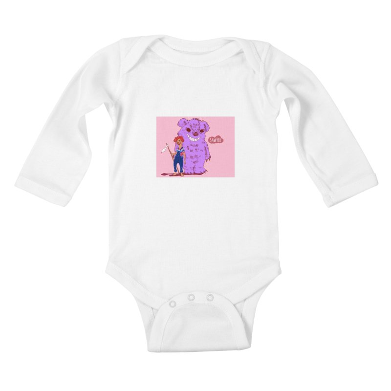 Monster and friend Kids Baby Longsleeve Bodysuit by sawyercloud's Artist Shop