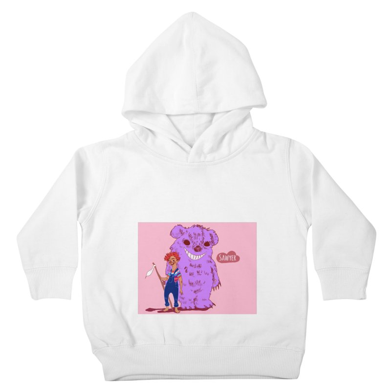 Monster and friend Kids Toddler Pullover Hoody by sawyercloud's Artist Shop