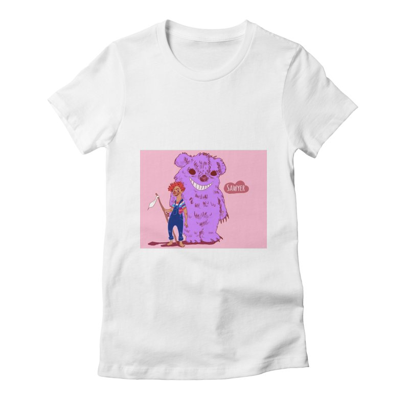 Monster and friend Women's Fitted T-Shirt by sawyercloud's Artist Shop