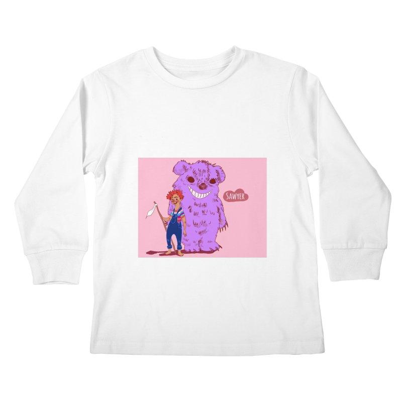 Monster and friend Kids Longsleeve T-Shirt by sawyercloud's Artist Shop