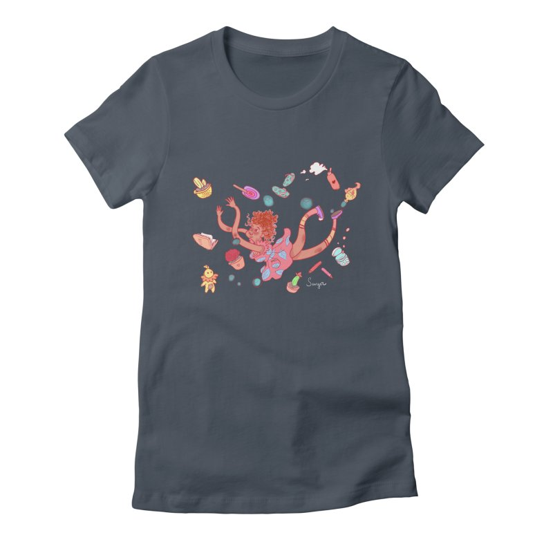 LET GO! Women's Fitted T-Shirt by sawyercloud's Artist Shop