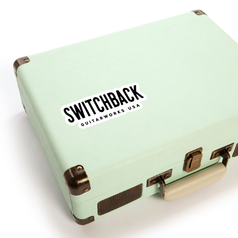 Black Text Sticker Accessories Sticker by Switchback Guitarworks USA