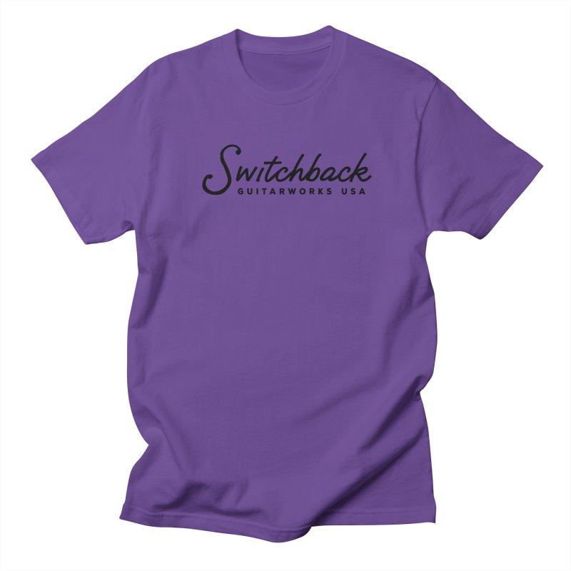 Black Script Tee Men's T-Shirt by Switchback Guitarworks USA