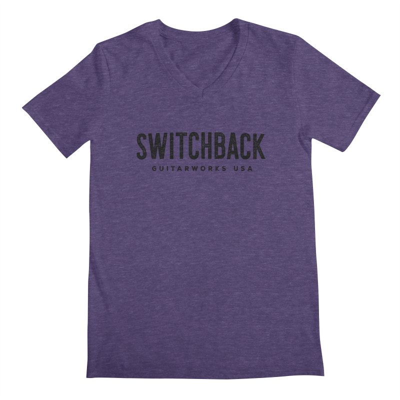 Grungy Text Tee Men's V-Neck by Switchback Guitarworks USA