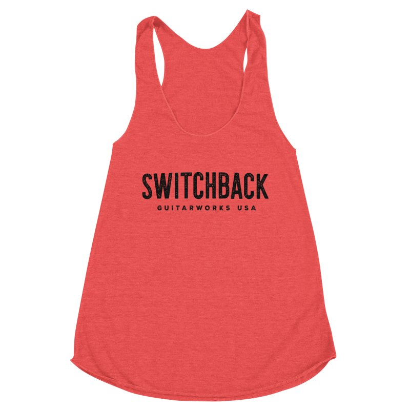 Grungy Text Tee Women's Tank by Switchback Guitarworks USA