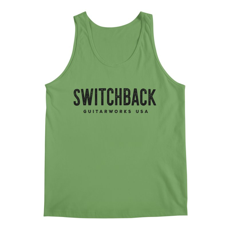 Grungy Text Tee Men's Tank by Switchback Guitarworks USA