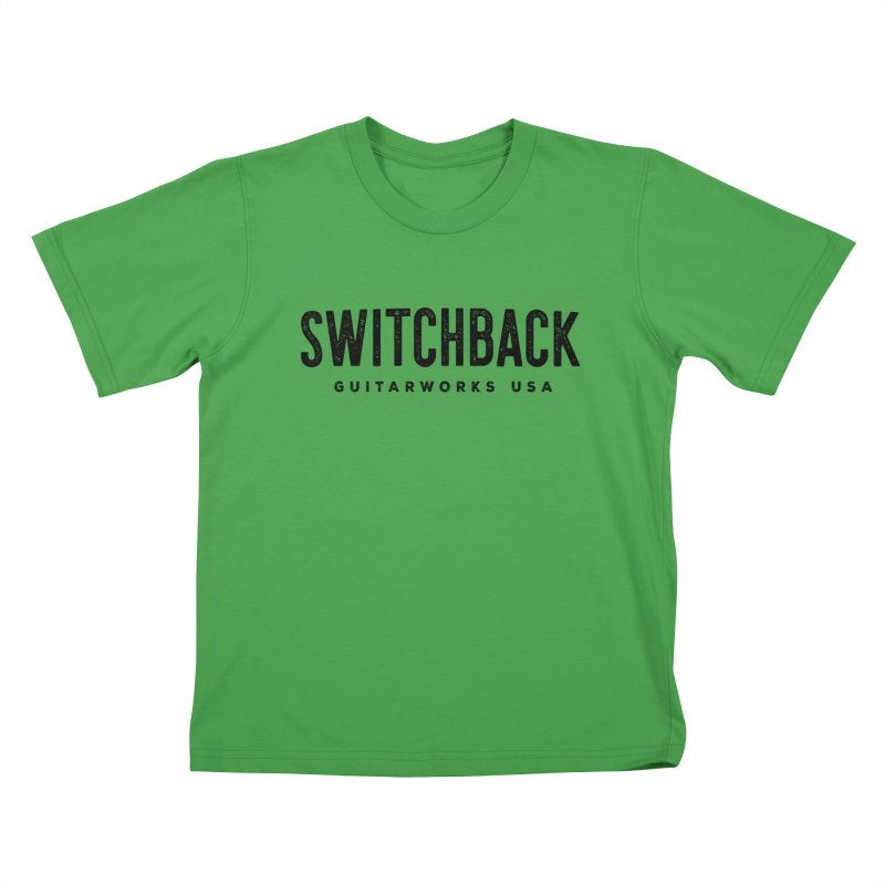 Grungy Text Tee Kids T-Shirt by Switchback Guitarworks USA