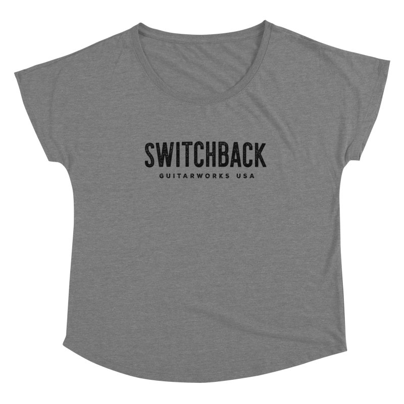 Grungy Text Tee Women's Scoop Neck by Switchback Guitarworks USA