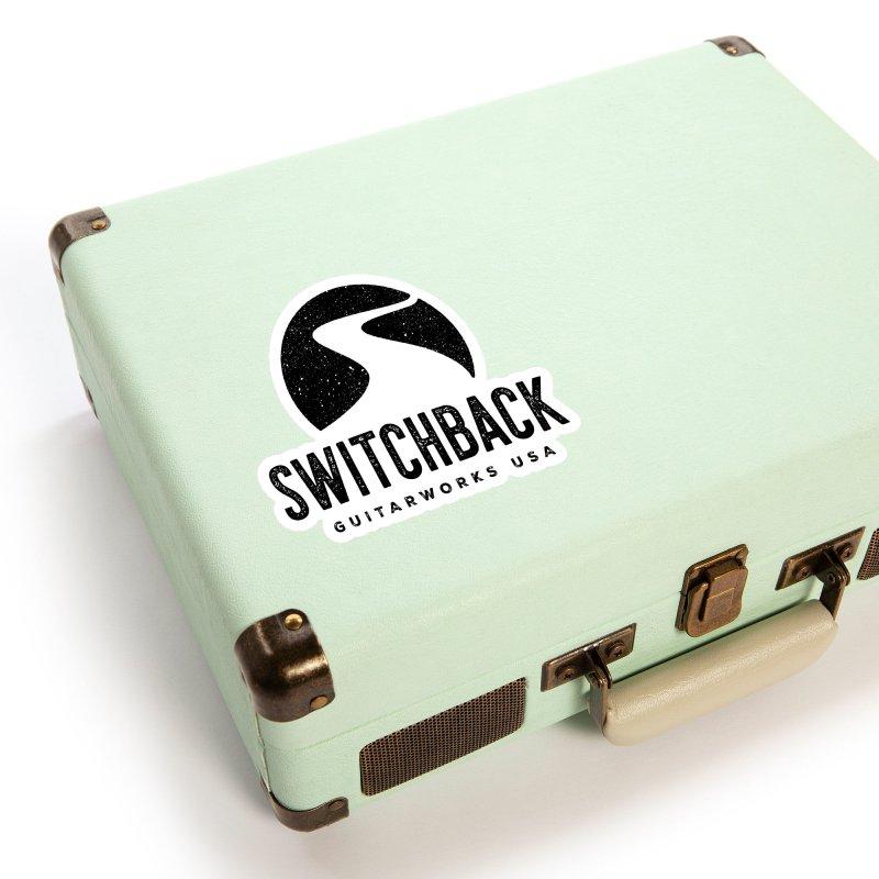 Black Grungy Logo Sticker Accessories Sticker by Switchback Guitarworks USA