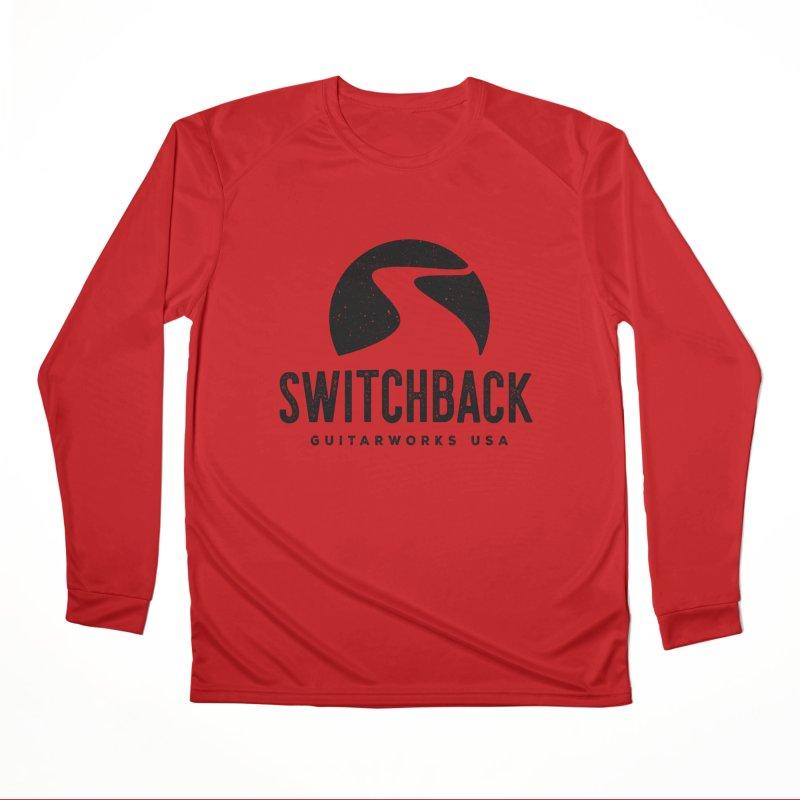 Black Grungy Logo Tee Women's Longsleeve T-Shirt by Switchback Guitarworks USA