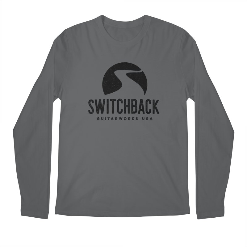Black Grungy Logo Tee Men's Longsleeve T-Shirt by Switchback Guitarworks USA