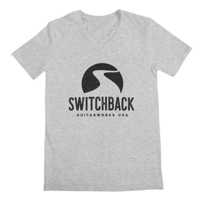 Black Grungy Logo Tee Men's V-Neck by Switchback Guitarworks USA