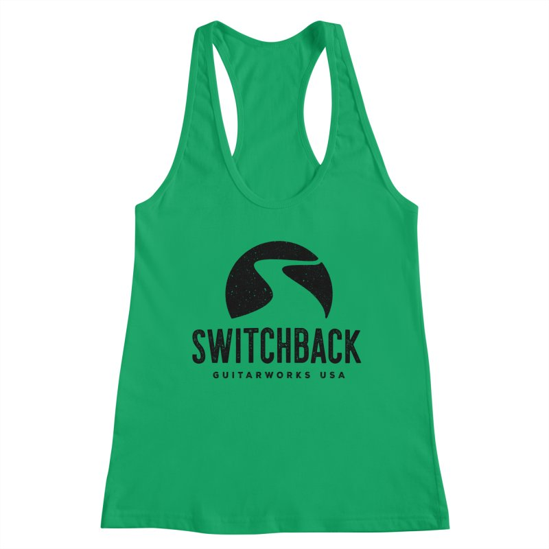 Black Grungy Logo Tee Women's Tank by Switchback Guitarworks USA