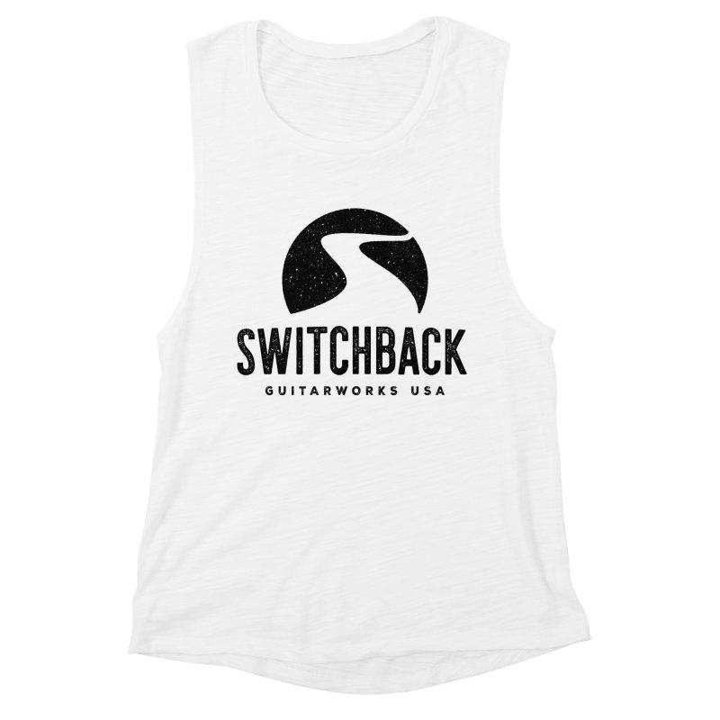 Black Grungy Logo Tee Women's Tank by Switchback Guitarworks USA