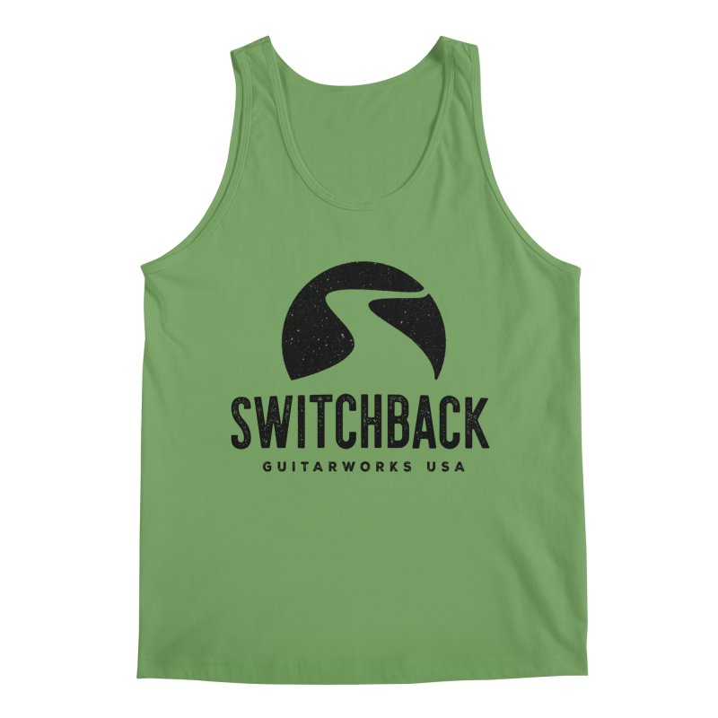 Black Grungy Logo Tee Men's Tank by Switchback Guitarworks USA