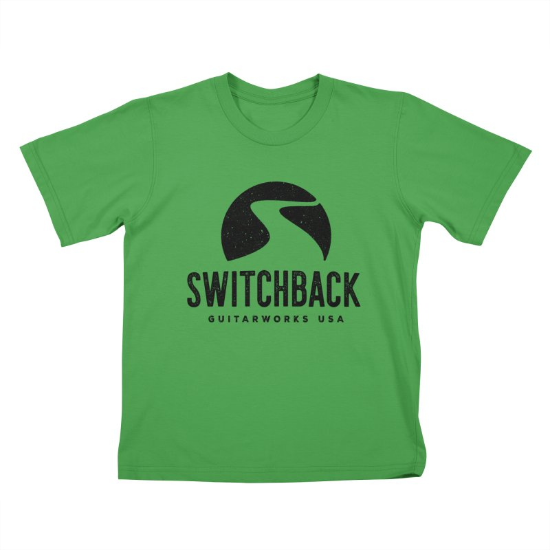 Black Grungy Logo Tee Kids T-Shirt by Switchback Guitarworks USA