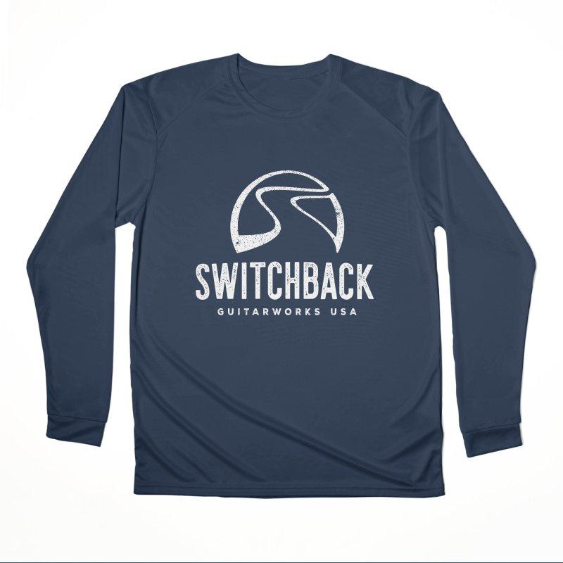 White Grungy Logo Tee Women's Longsleeve T-Shirt by Switchback Guitarworks USA