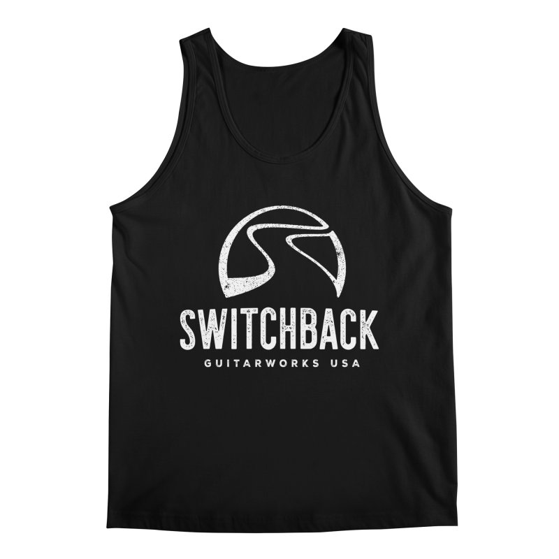 White Grungy Logo Tee Men's Tank by Switchback Guitarworks USA