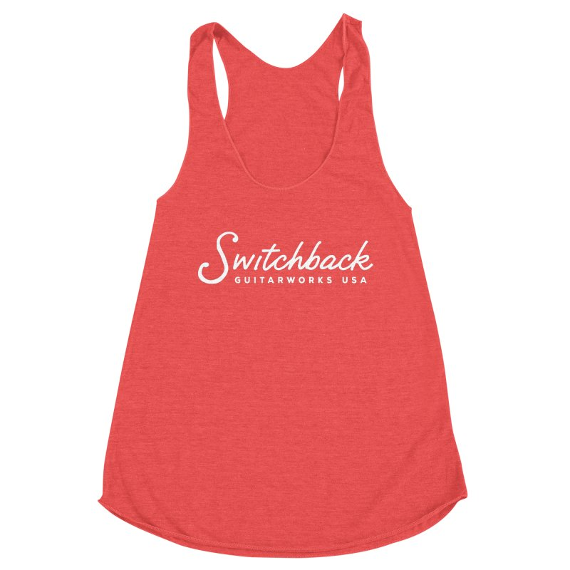 White Script Tee Women's Tank by Switchback Guitarworks USA