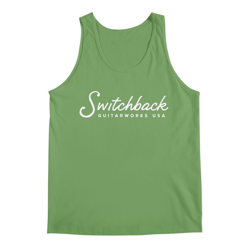 White Script Tee Men's Tank by Switchback Guitarworks USA