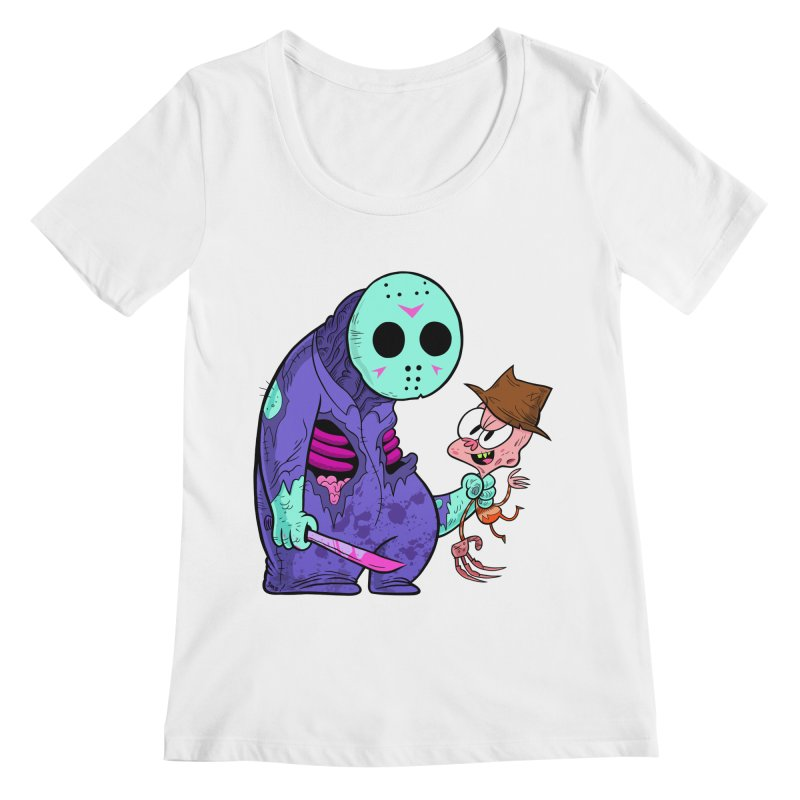 freddy the 13th (8-bit variant) Women's Regular Scoop Neck by scabfarm
