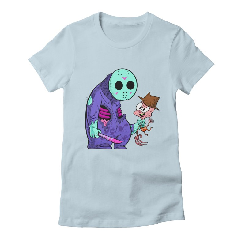 freddy the 13th (8-bit variant) Women's Fitted T-Shirt by scabfarm