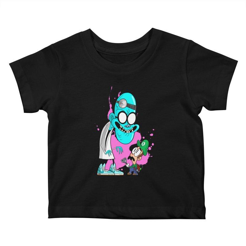 maniac mansion Kids Baby T-Shirt by scabfarm