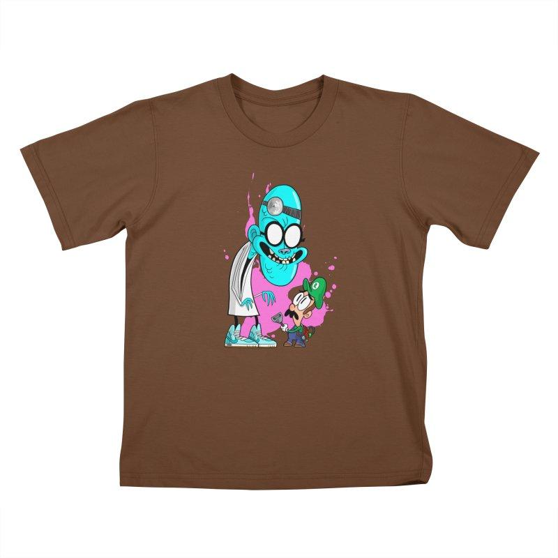 maniac mansion Kids T-Shirt by scabfarm