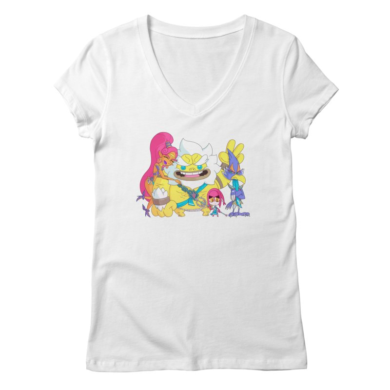 all my friends are dead Women's Regular V-Neck by scabfarm