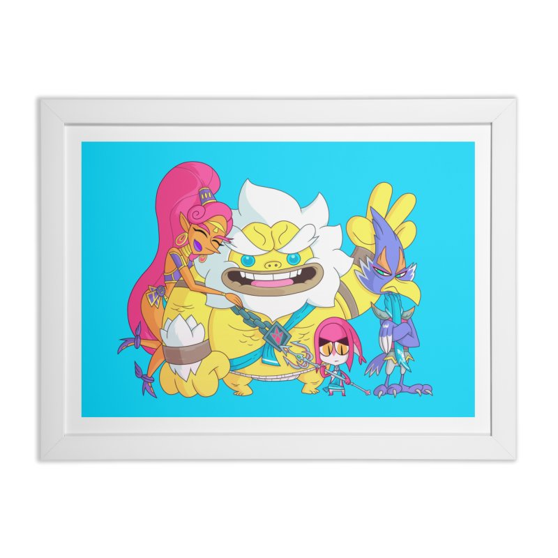 all my friends are dead Home Framed Fine Art Print by scabfarm