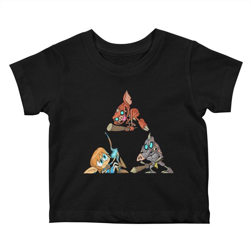 toraifosu Kids Baby T-Shirt by scabfarm